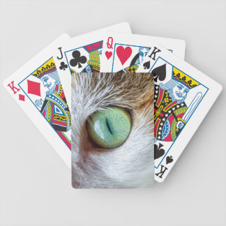 Mesmerizing Beautiful Green Cat's Eye Bicycle Playing Cards