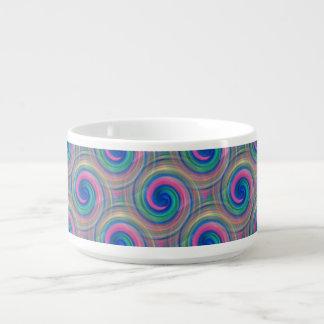 Mesmerizing classic swirl pattern with purple chili bowl