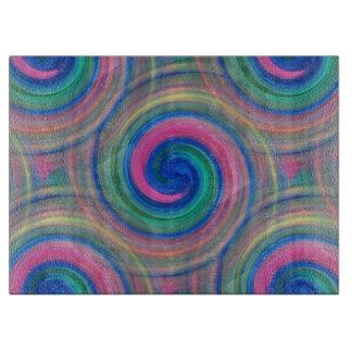 Mesmerizing classic swirl pattern with purple cutting board