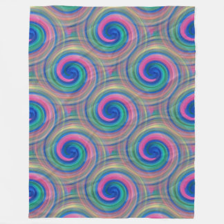 Mesmerizing classic swirl pattern with purple fleece blanket
