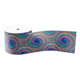 Mesmerizing classic swirl pattern with purple grosgrain ribbon