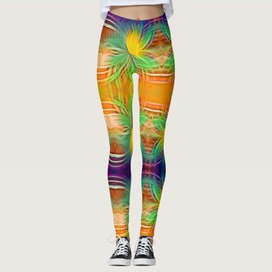 Mesmerizing Multi Colour Fractal Leggings