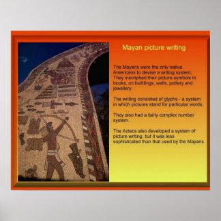 Meso-America, Mayan Writing Poster