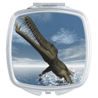 Mesosaurus dinosaur - 3D render Compact Mirrors