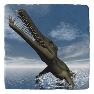 Mesosaurus dinosaur - 3D render Trivet