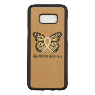 Mesothelioma Awareness Butterfly Carved Samsung Galaxy S8+ Case