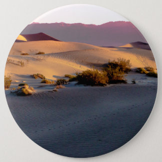 Mesquite Flat sand dunes Death Valley 6 Inch Round Button