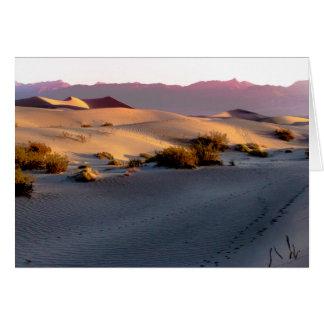 Mesquite Flat sand dunes Death Valley Card