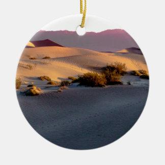 Mesquite Flat sand dunes Death Valley Ceramic Ornament