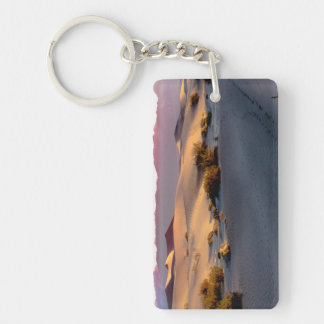 Mesquite Flat sand dunes Death Valley Double-Sided Rectangular Acrylic Keychain