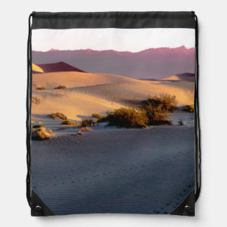Mesquite Flat sand dunes Death Valley Drawstring Bag
