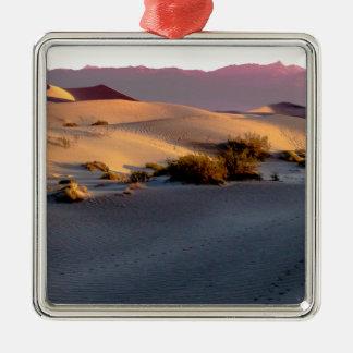 Mesquite Flat sand dunes Death Valley Metal Ornament
