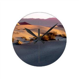 Mesquite Flat sand dunes Death Valley Round Clock