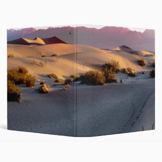 Mesquite Flat sand dunes Death Valley Vinyl Binder