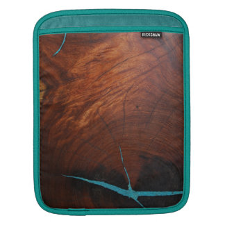 MESQUITE WOOD IMAGE TURQUOISE INLAY iPAD SLEEVE