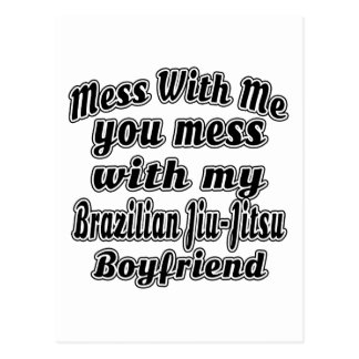 Mess With Me You Mess With My Brazilian Jiu-Jitsu Postcard