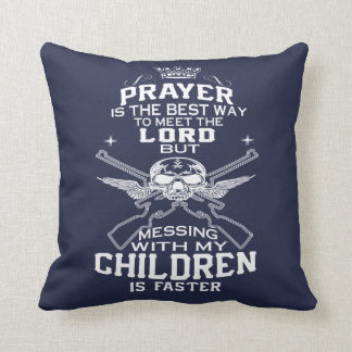 Mess With My Children Throw Pillow