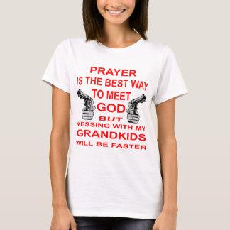 Mess With My Grandkids & Meet God T-Shirt