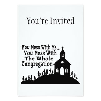 "Mess With Whole Congregation 5"" X 7"" Invitation Card"