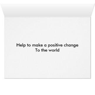 Message against gun violence greeting card