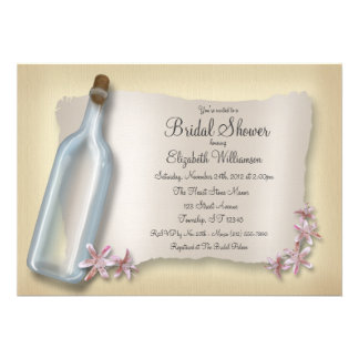 Message from a Bottle ~ Bridal Shower Invitations