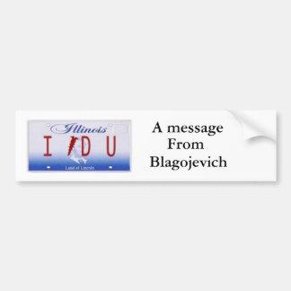 Message from Blago Bumper Sticker