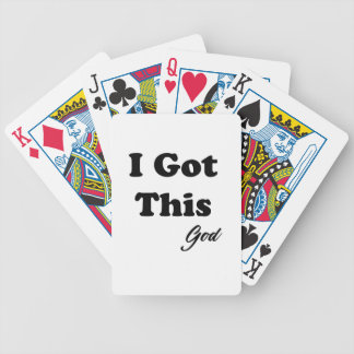 Message From God Bicycle Playing Cards
