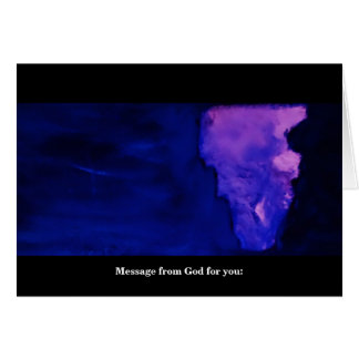 MESSAGE FROM GOD (FOR YOU) CARD