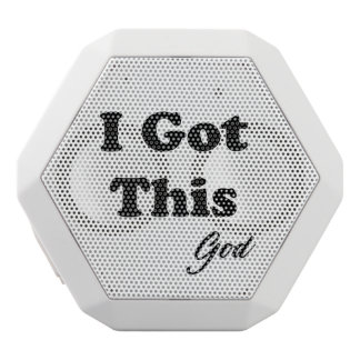 Message From God White Bluetooth Speaker