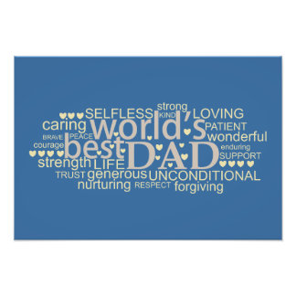 message gift for 'best dad' Photo Enlargement