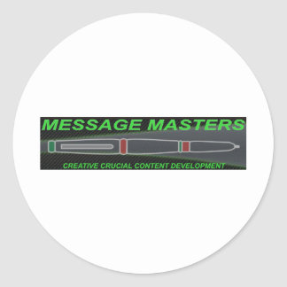 Message Masters Round Sticker