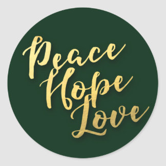 Message of Peace Holiday Envelope Seal Round Sticker