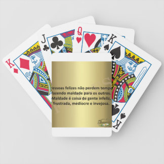 message of the URL Bicycle Playing Cards