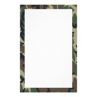 Message on Camo Customized Stationery