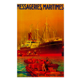 Messageries Maritimes Vintage PosterEurope Poster