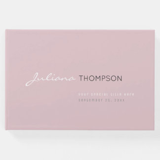 messages & signatures pale pink guestbook for her