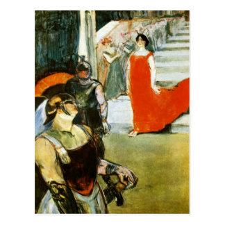Messalina Descending by Toulouse-Lautrec Postcard