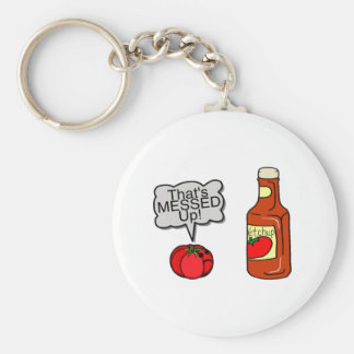 Messed Up Ketchup Keychain