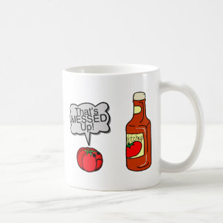 Messed Up Ketchup Classic White Coffee Mug