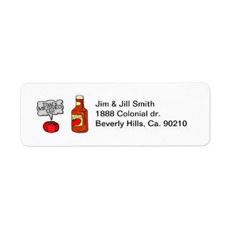 Messed Up Ketchup Return Address Label