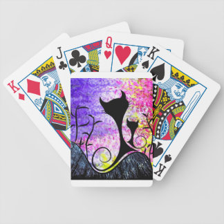 Messemios - black cats bicycle playing cards