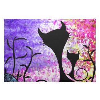 Messemios - black cats placemat