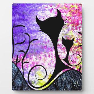 Messemios - black cats plaque
