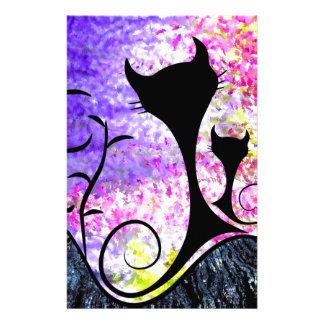 Messemios - black cats stationery