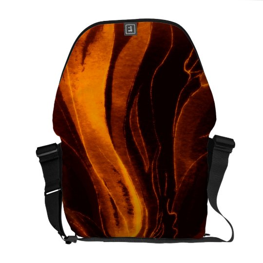 Messenger Bag in Elegant Orange and Black