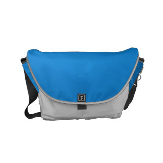 Messenger Bag Sparkle Luxury blue Leather look