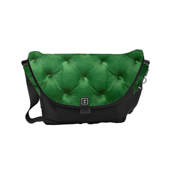 Messenger Bag with green capitone, Chesterfild