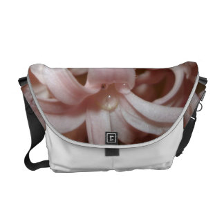 Messenger Bag With Pink color Hyacinth Flower