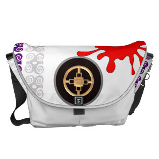 Messenger bag with symbol of good plans