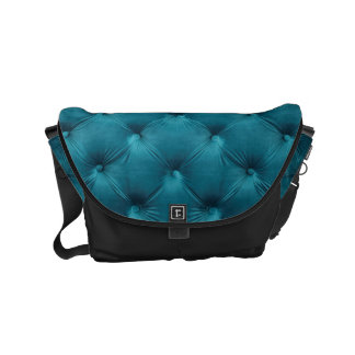 Messenger Bag with teal capitone, Chesterfild